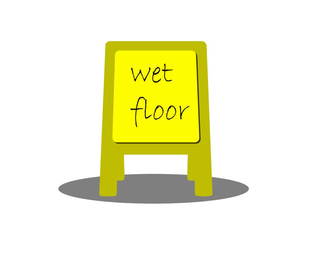שלט רצפה רטובה
